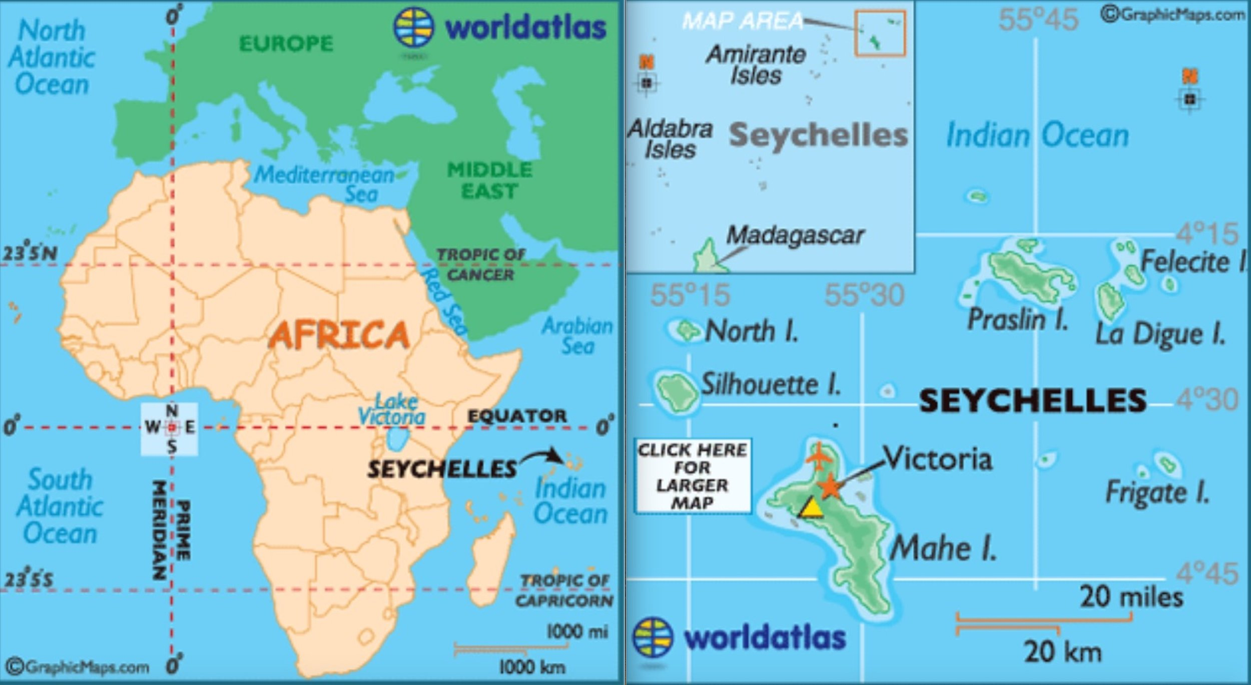 The Seychelles is an island nation of 215,000 people and 115 islands in the western Indian Ocean. (c) WorldAtlas