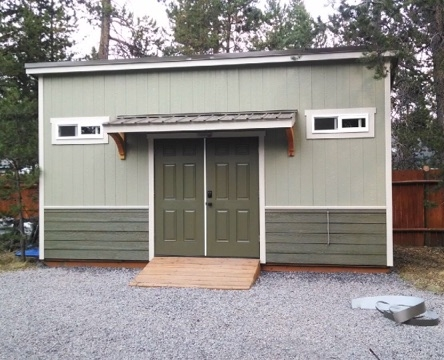 North Sister shed - Inspired by the beautiful Three Sisters of the Cascades.