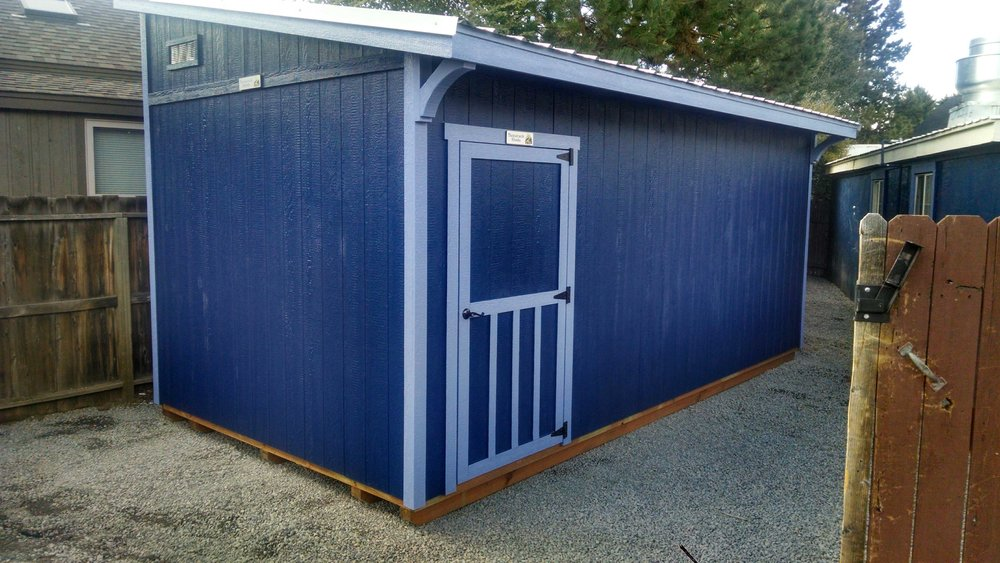 This beauty we built for the French Market to help with their storage! The blue color looks unique and refreshing!