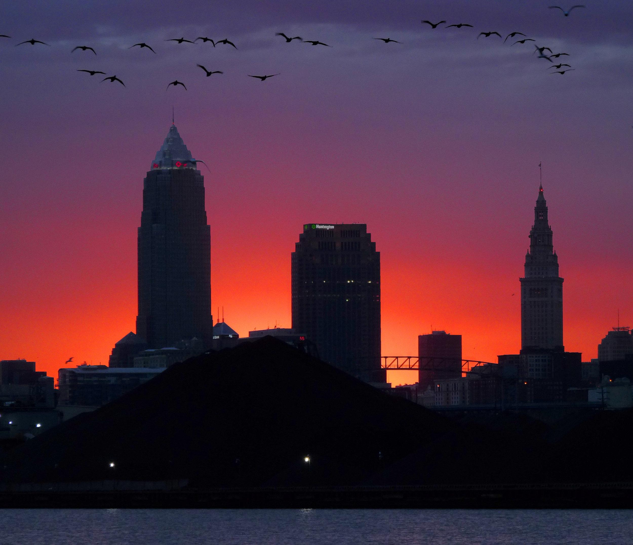 Cleveland Skyline Dusk
