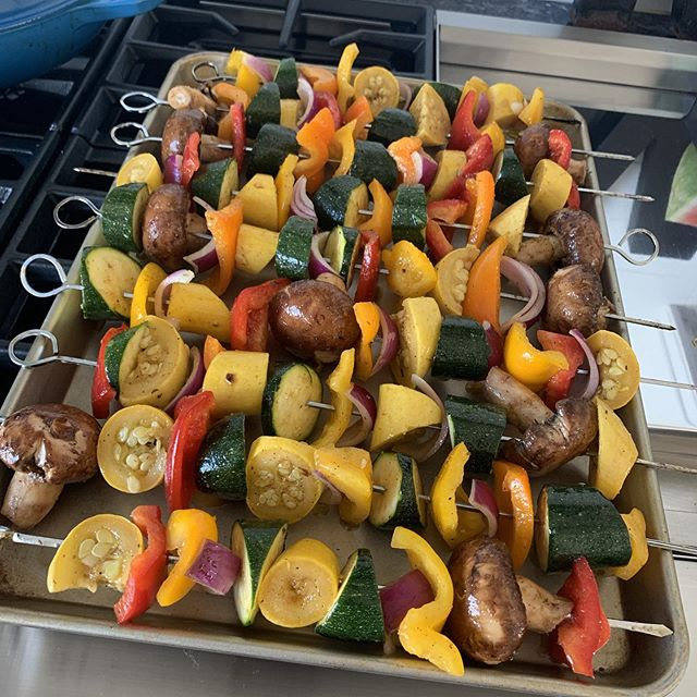 Summer grilling time! #healthyfood #healthyeating #kabobsonthegrill #foodisfuel