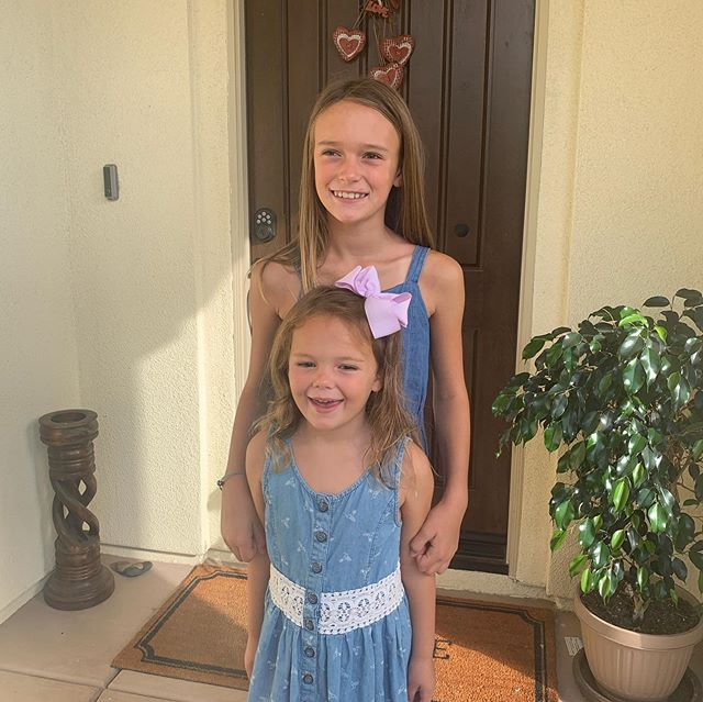 Happy First Day of School! Annemarie is off to 4th and Tessa started Kinder! Can't believe my girls are so big. Happy to send them off to Design39Campus today!