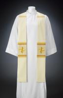 Golden Floral Cross Stole $190