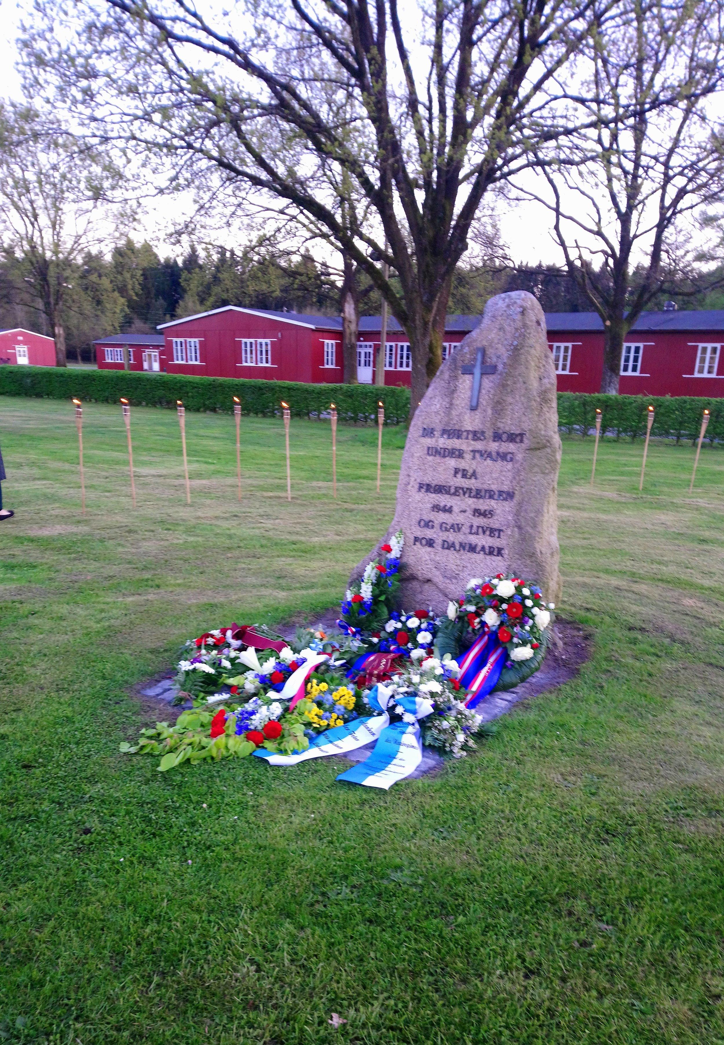 Billede fra Mindehøjtideligheden i Frøslevlejren d. 4. maj 2018 - De førtes bort under tvang fra Frøslevlejren 1944-1945 og gav livet for Danmark