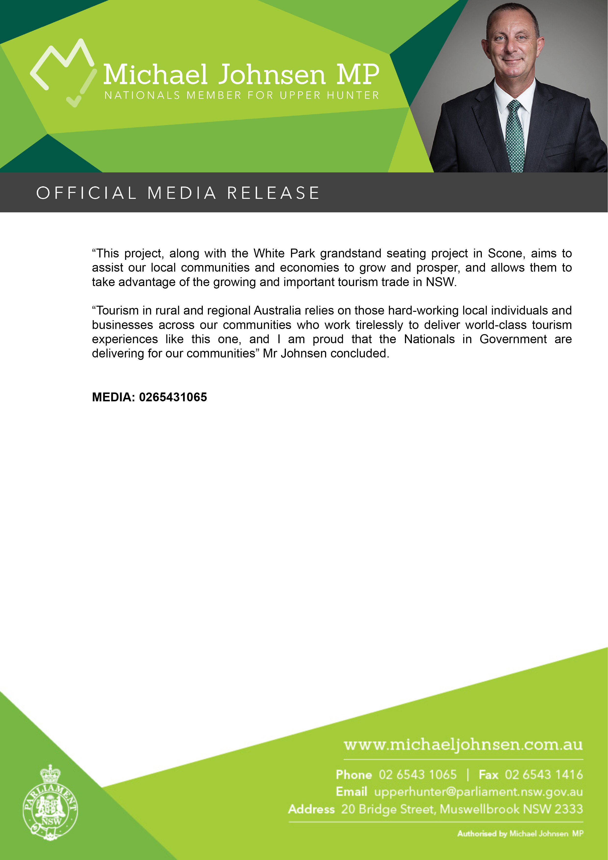 Michael Johnsen Media Release -$171,400 FOR VISITOR CENTRE AT SCONE AIRPORT2.jpg
