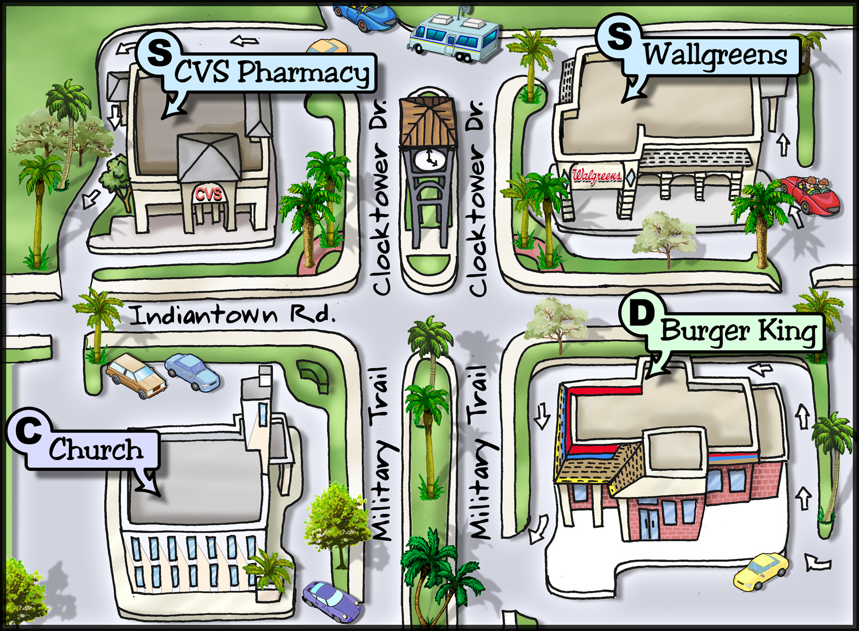 Cartoon City Map