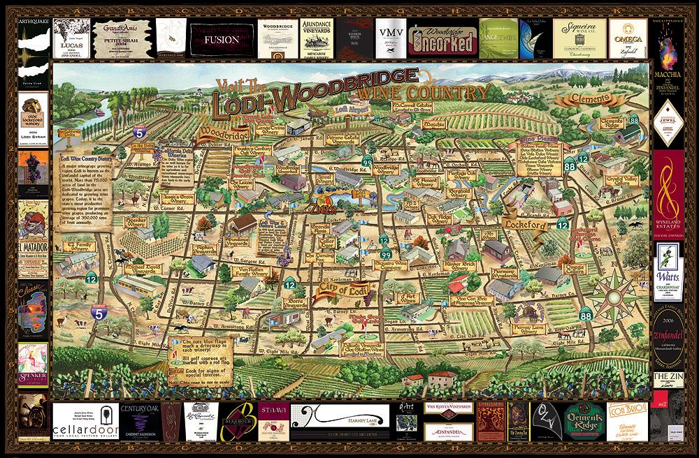 Lodi Winery Map