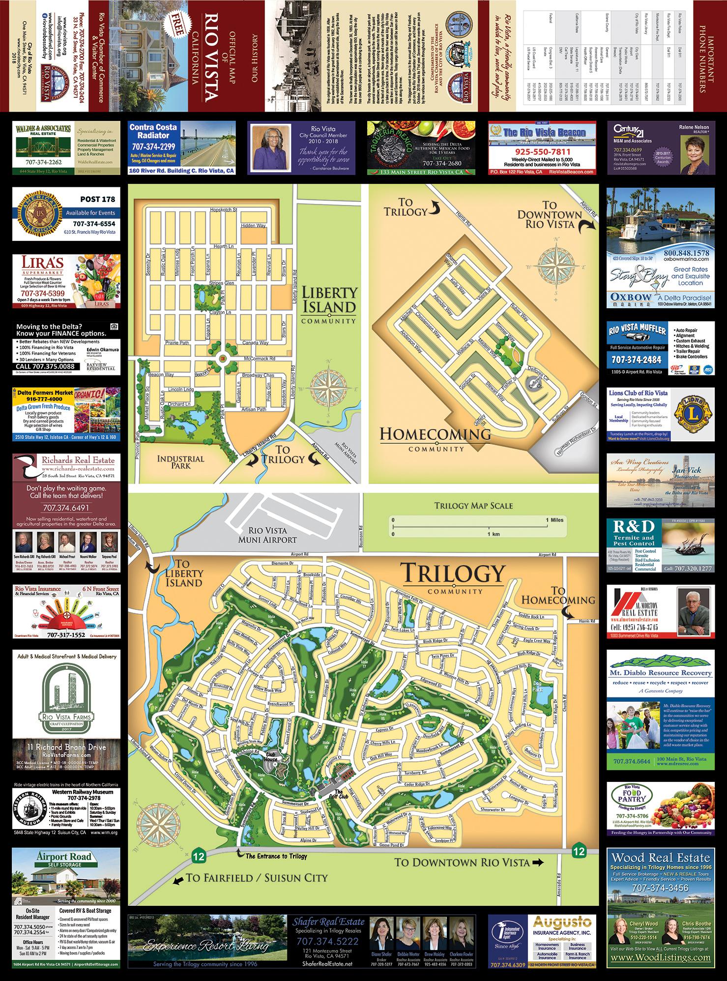 Rio Vista Chamber City Map