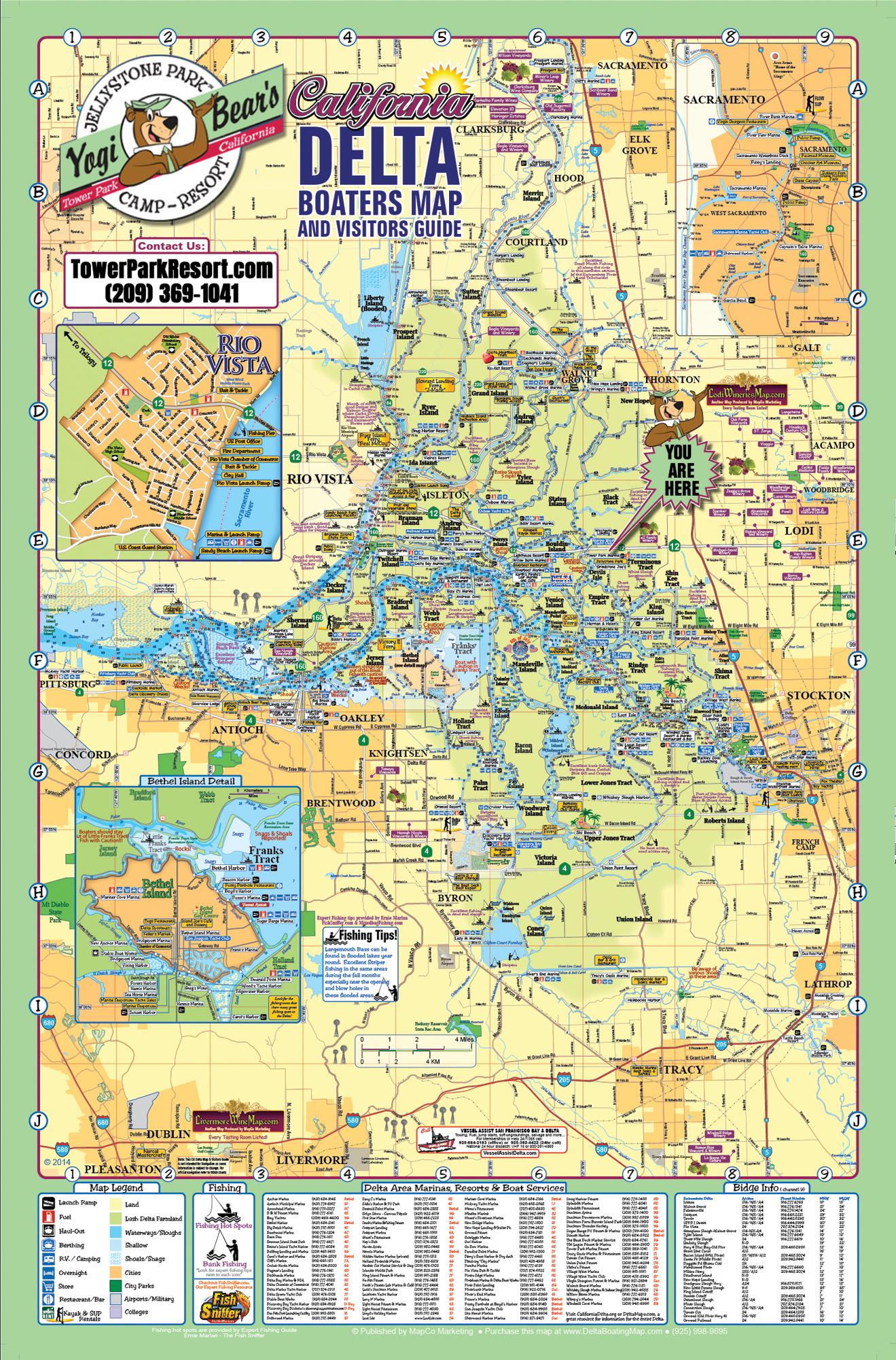 Customized California Delta Map
