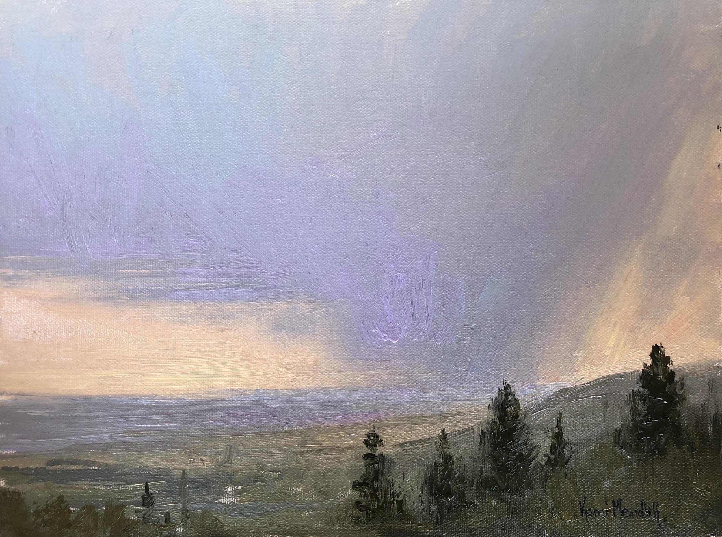 Landscape painting by Kami Mendlik