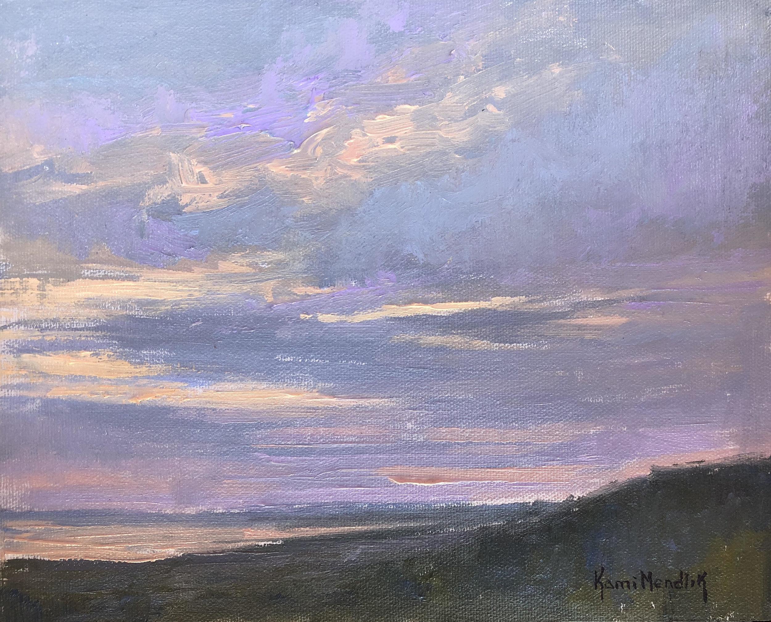 Sky painting by Kami Mendlik