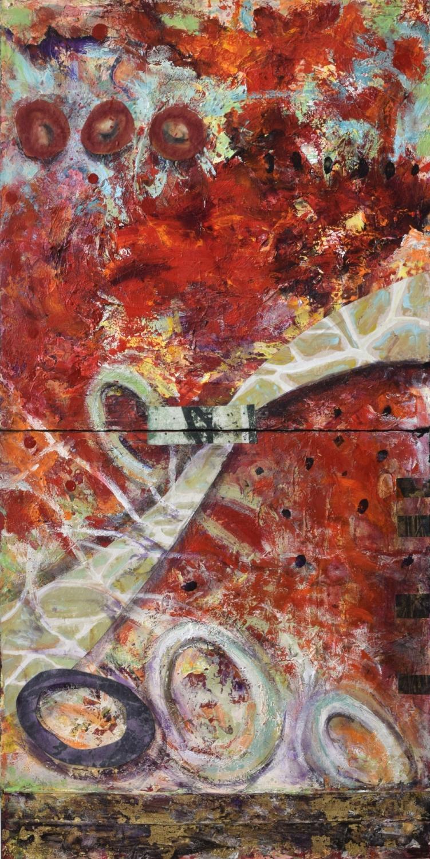 Follow Ribbon painting by Sandra Duran Wilson
