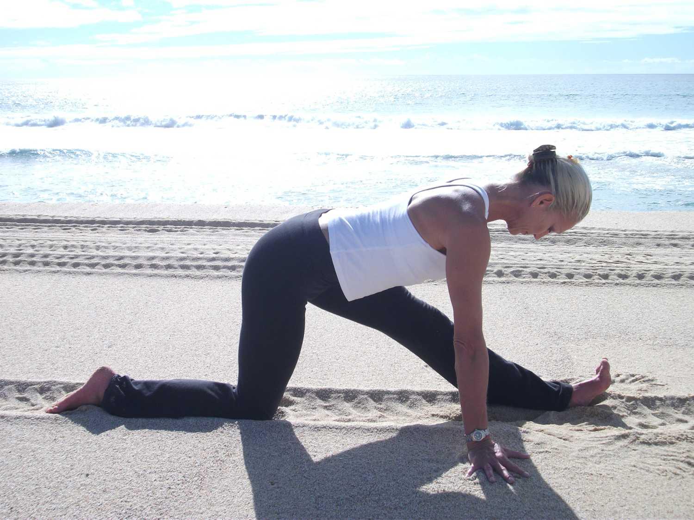 Kathleen Conklin yoga on the beach