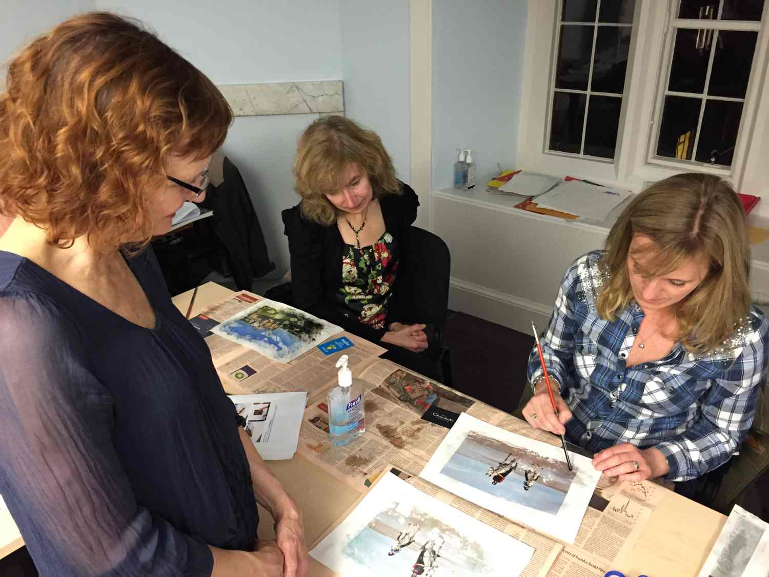 Bookmaking class taught by Susan kae Grant