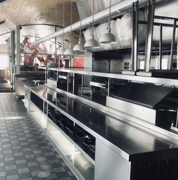 Kitchen amenities at Wild Rice Retreat
