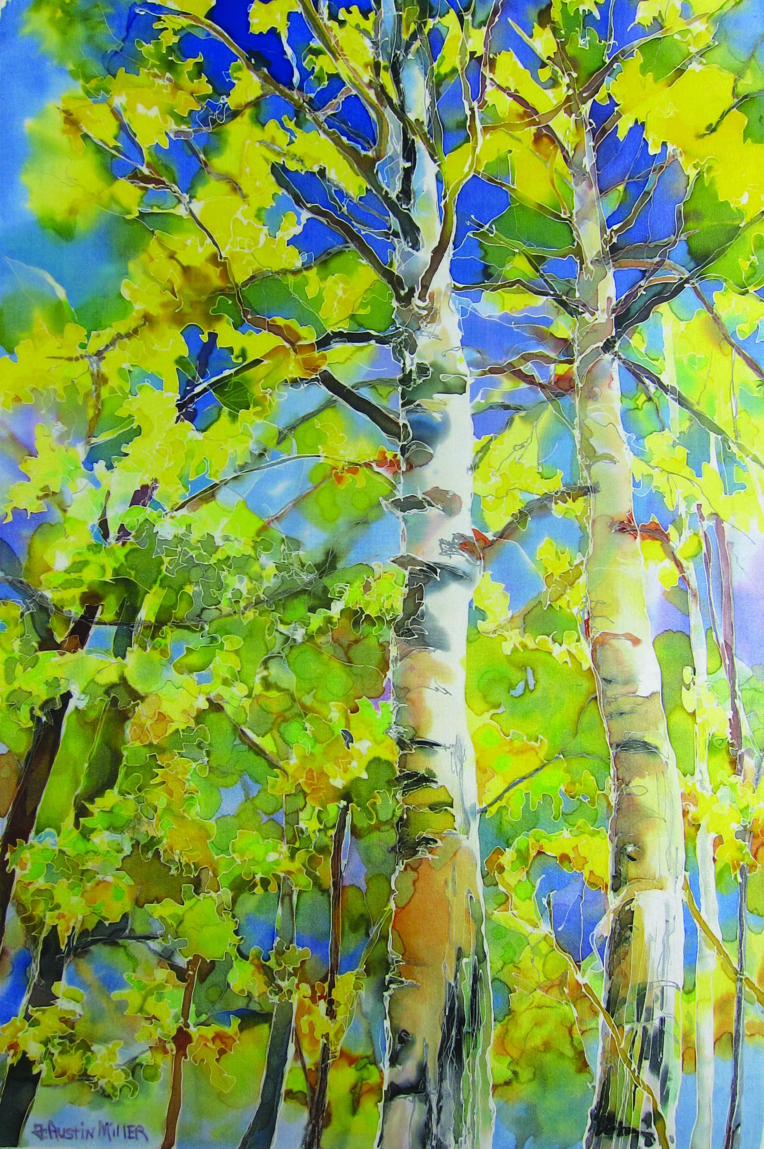 Trees painting by France Austin Miller