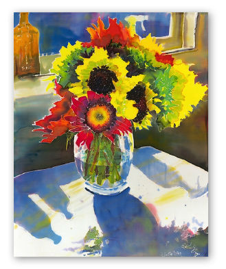 Flower bouquet painting by France Austin Miller