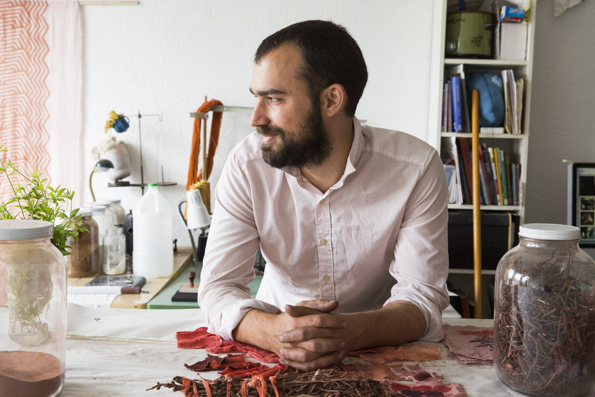 Graham Keegan in his workshop
