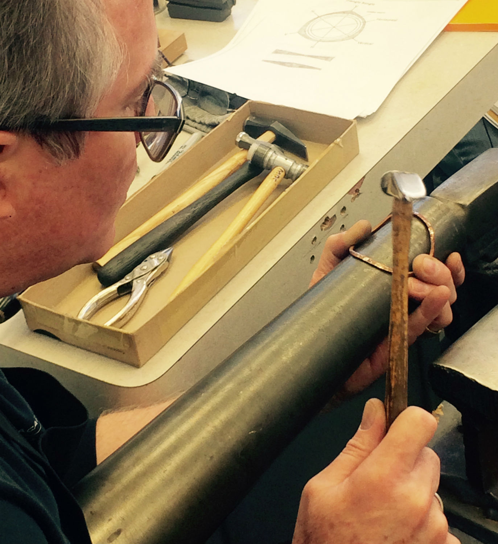Michael Sturlin forging bracelets