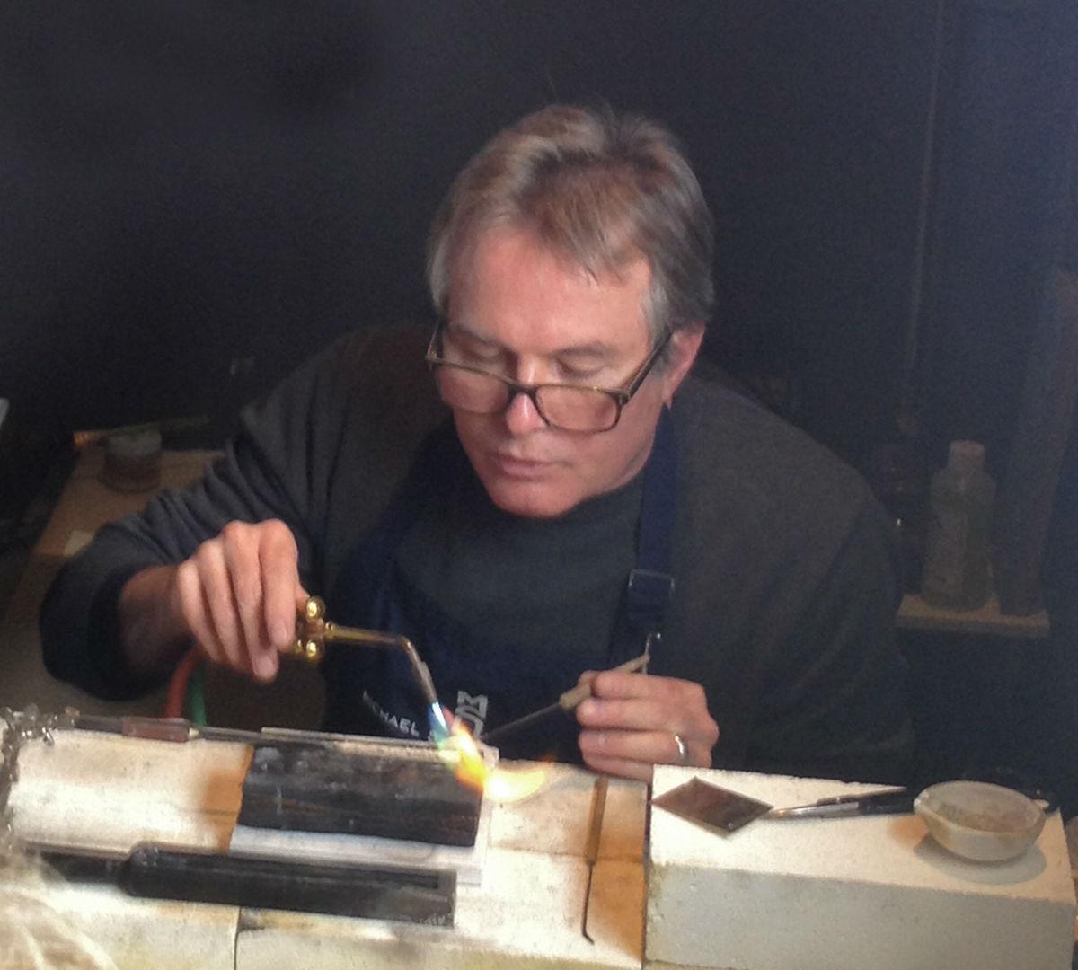 Michael Sturlin soldering jewelry