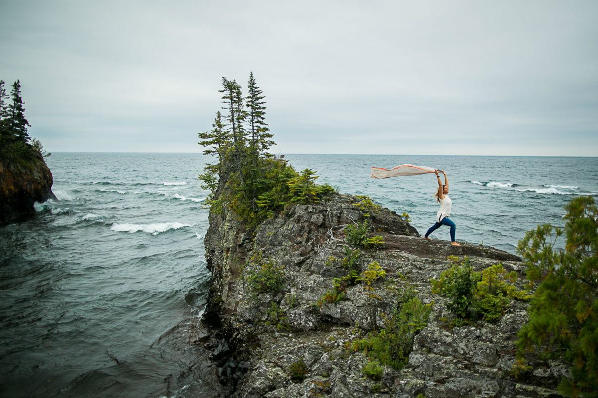 Amie Heeter Lake Superior yoga reatreat