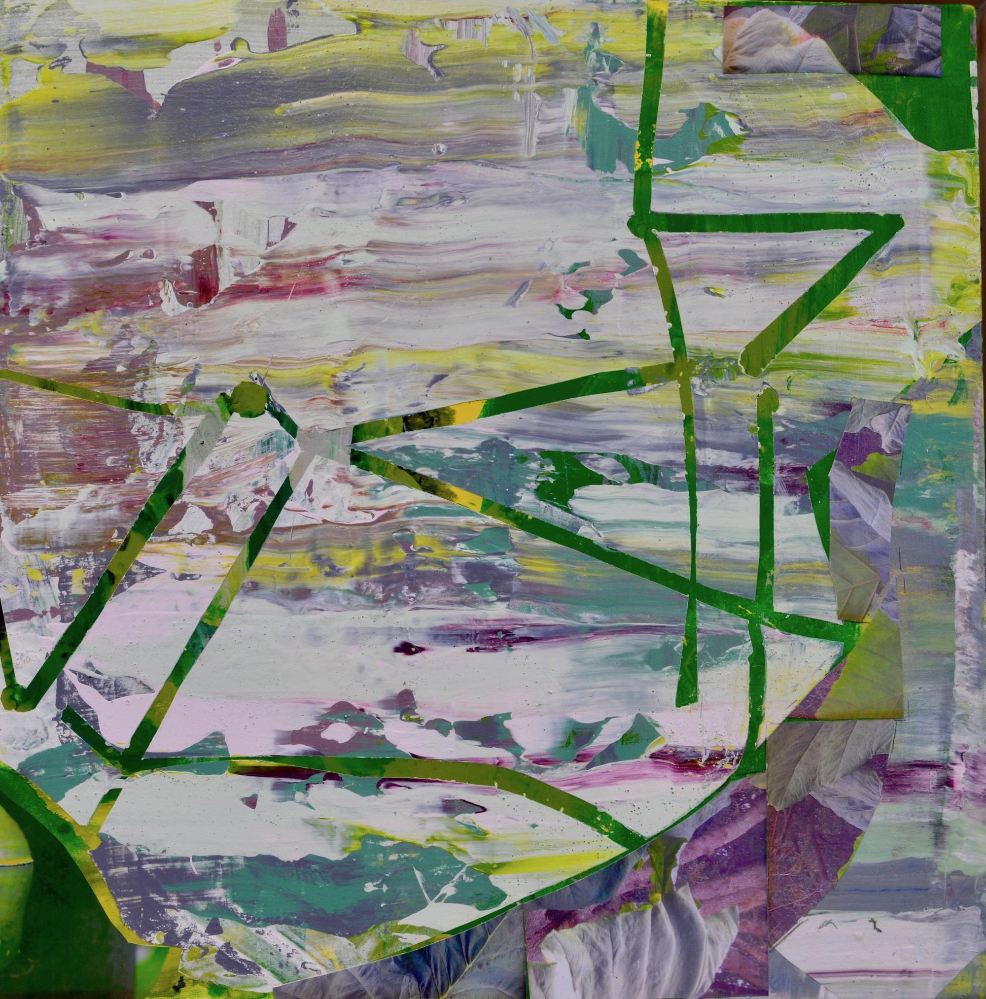 """Flutter  Acrylic on Canvas, 18"""" x 18"""""""
