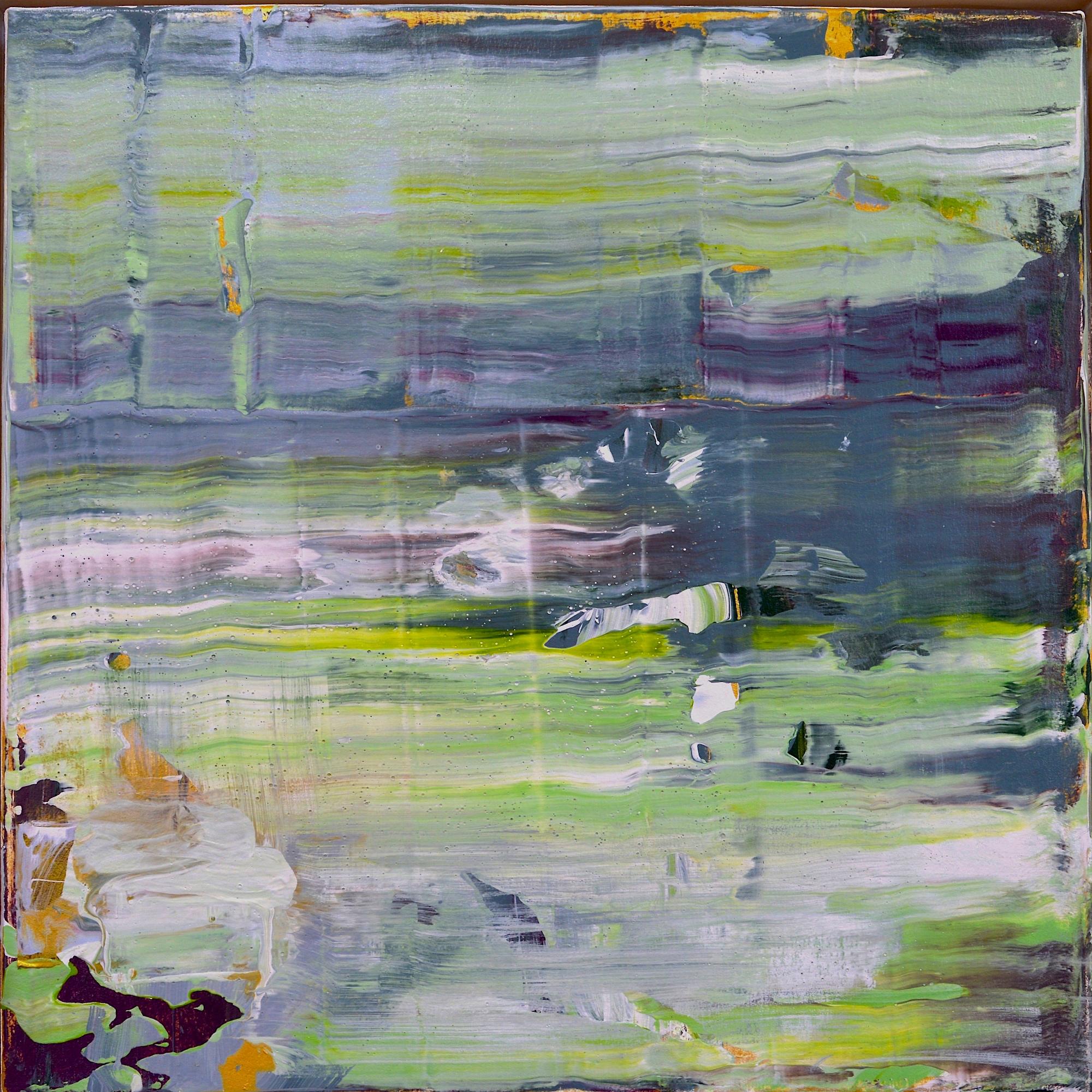"""Rita's Garden  Acrylic on Canvas, 18"""" x 18"""""""