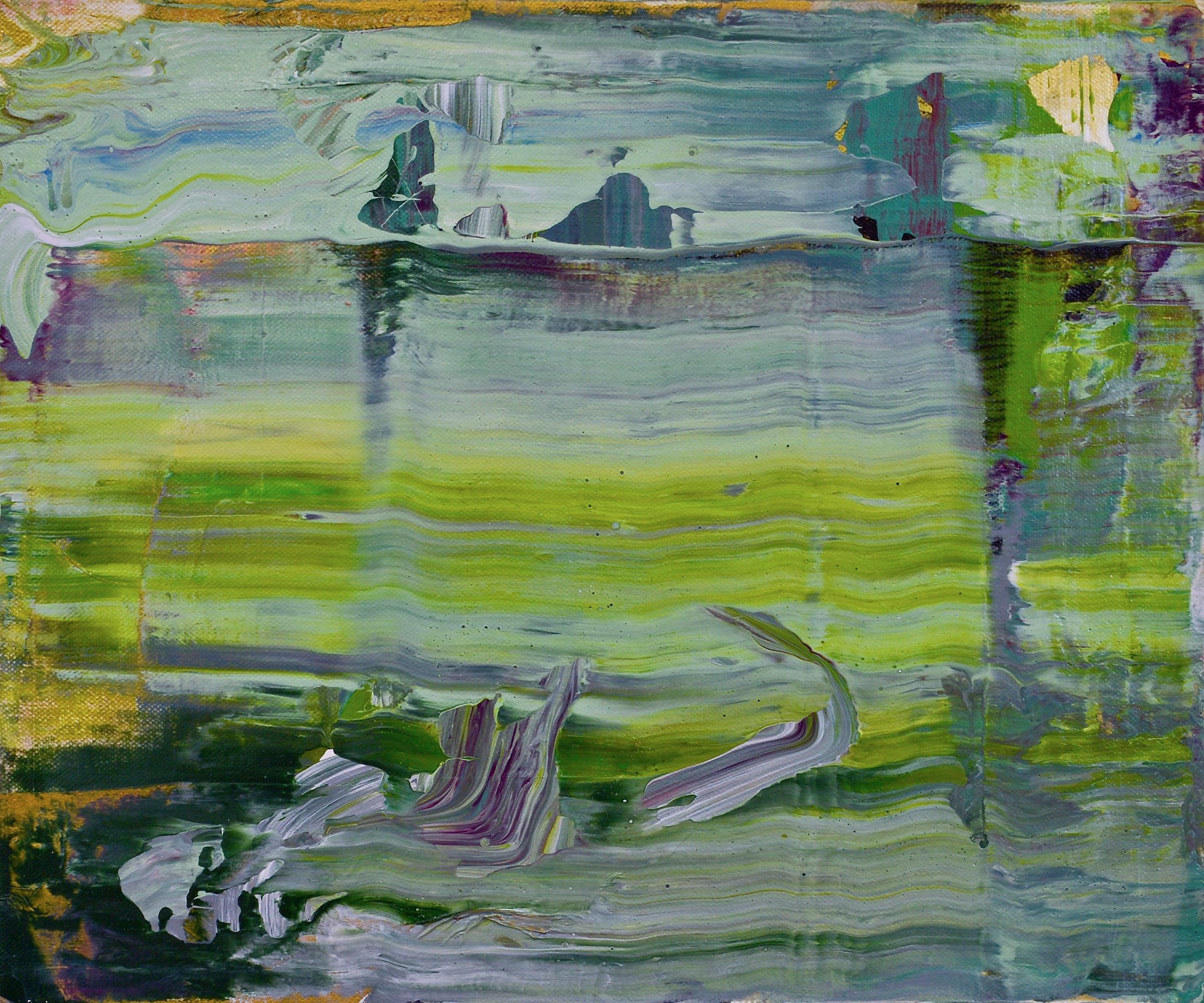 "Tidal Navigation  Acrylic on Canvas, 10"" x 12"""