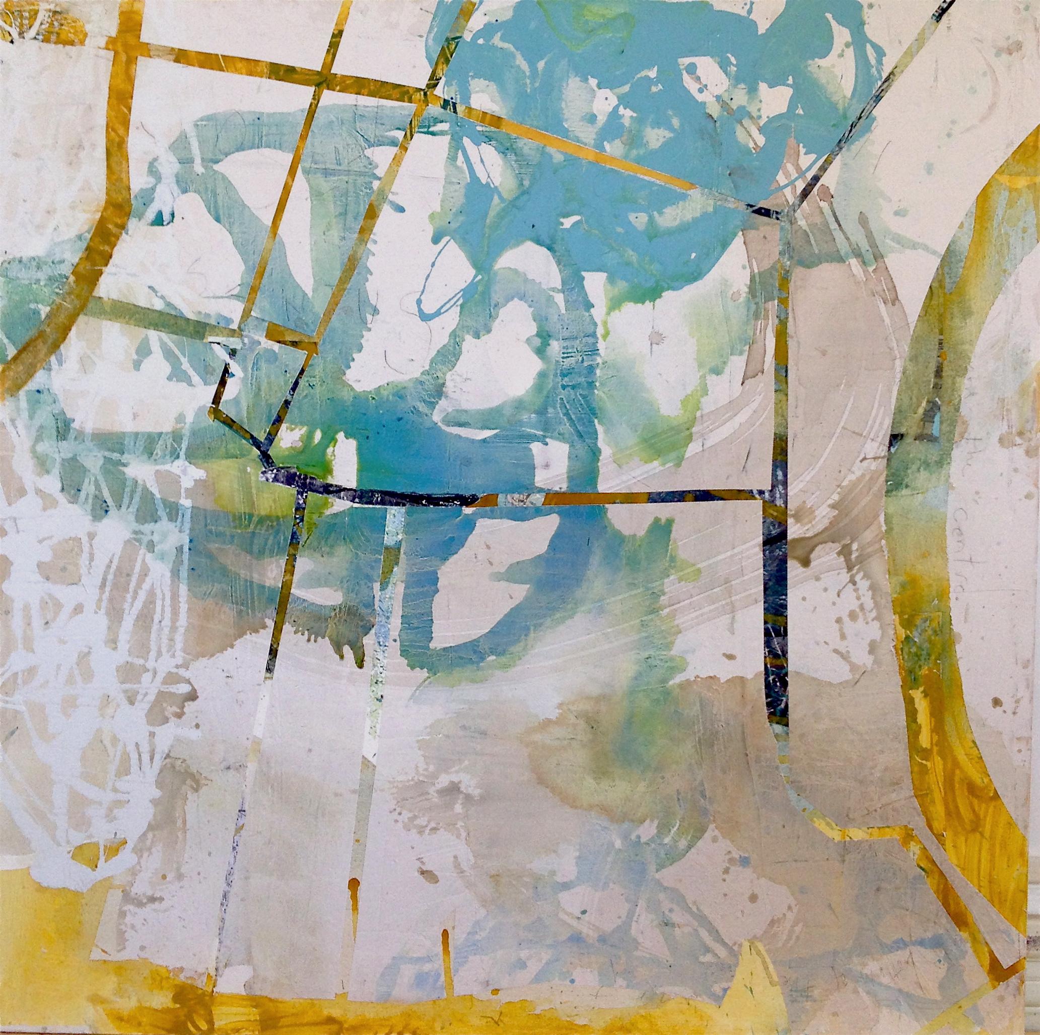 "Place Of Habitation  Acrylic on Paper, 49"" x 49"""