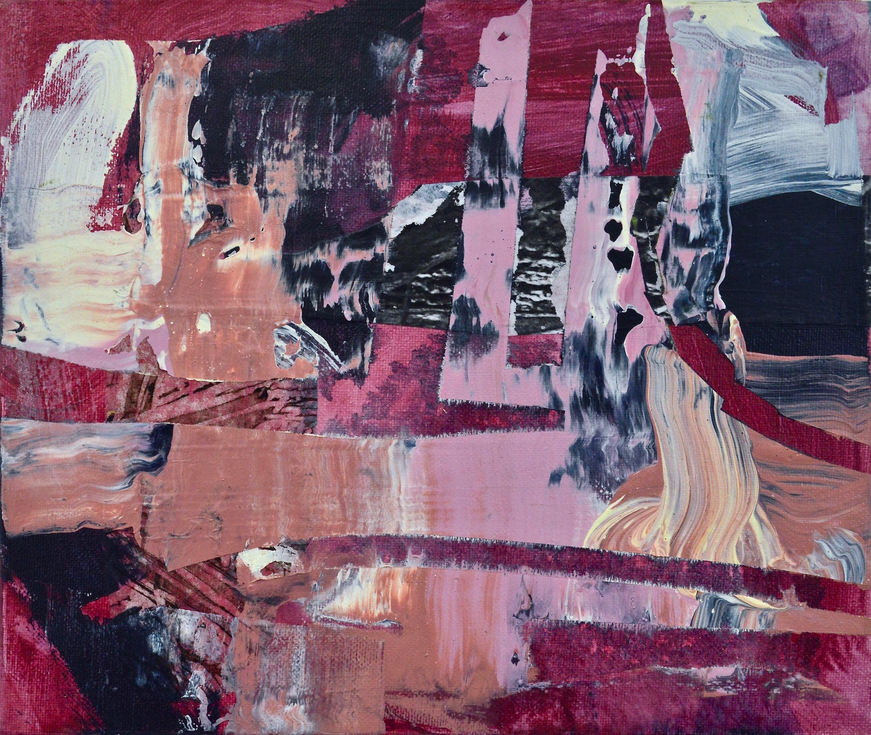 """Mapped Terrain  Acrylic on Canvas, 30"""" x 25"""""""