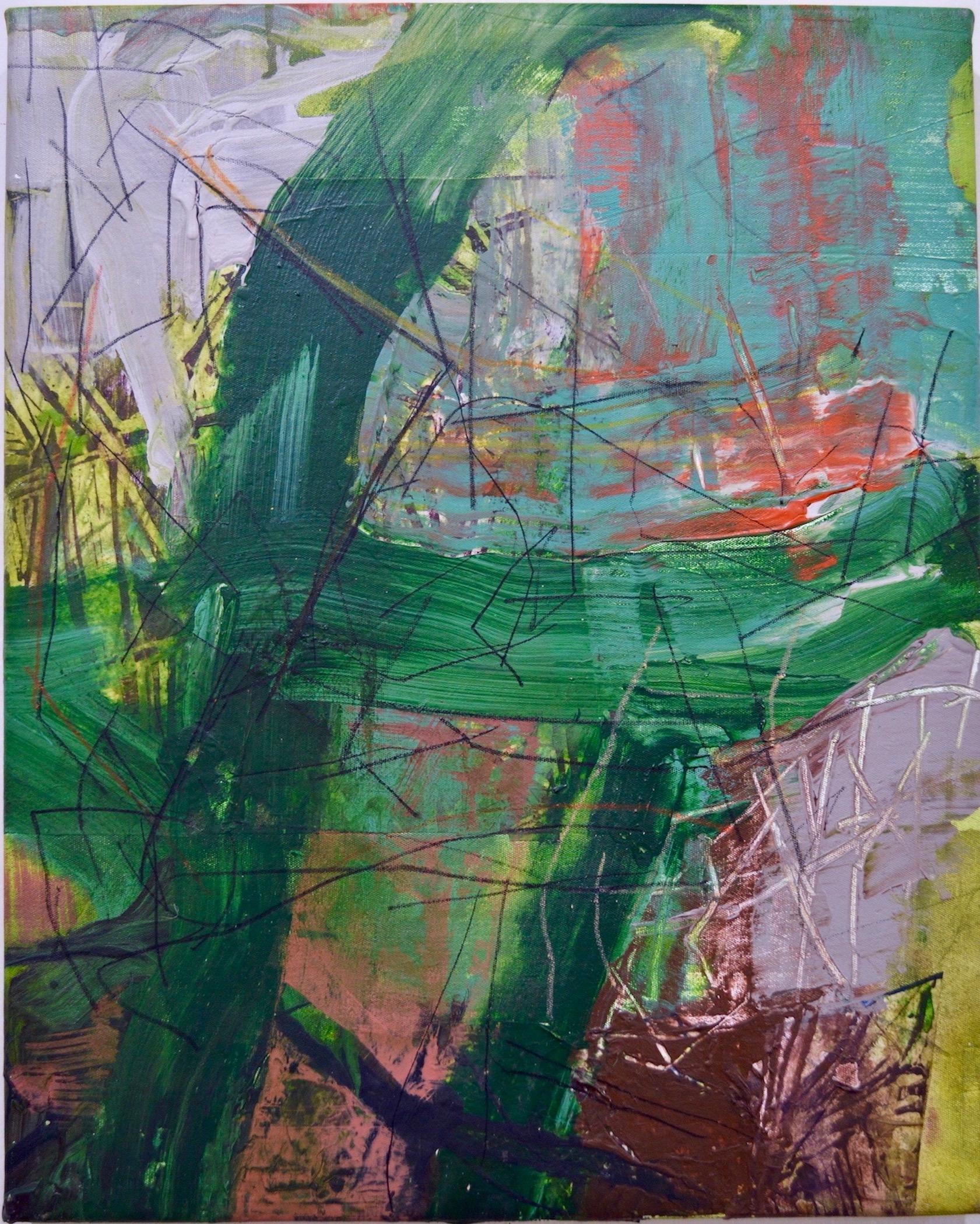 "Tiberias  Acrylic on Canvas, 20"" x 18"""