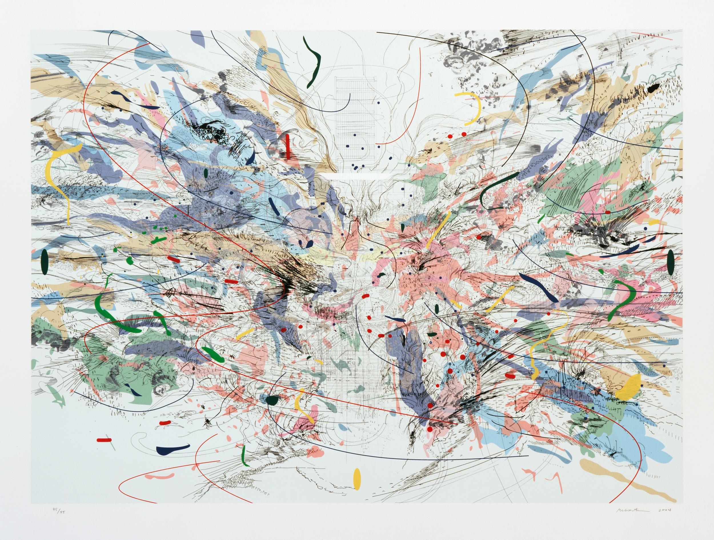 """Entropia (review)"" by Julie Mehretu 2004"