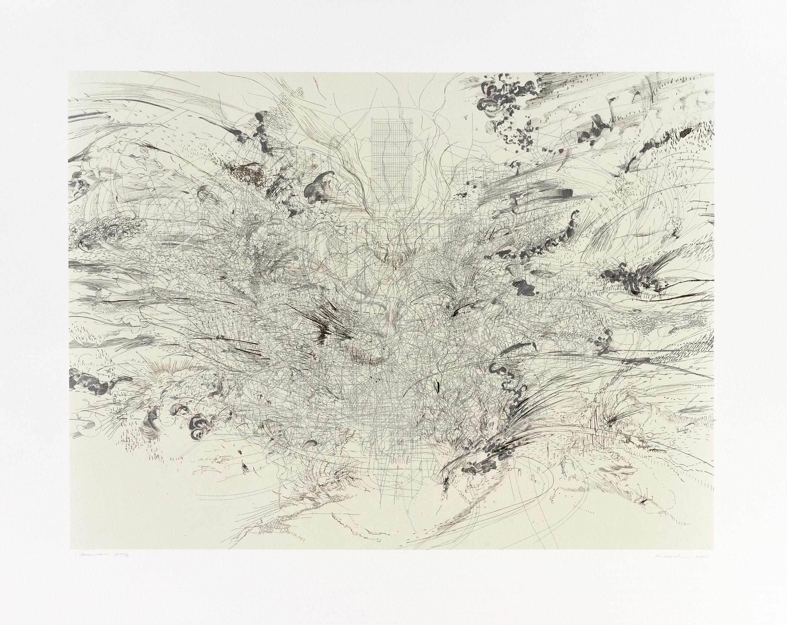 """""""Entropia: Construction"""" by Julie Mehretu 2005"""