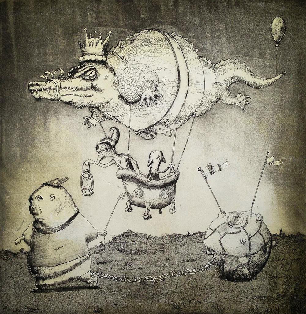 by Don Krumpos and Johanna Winters 2013  Intaglio