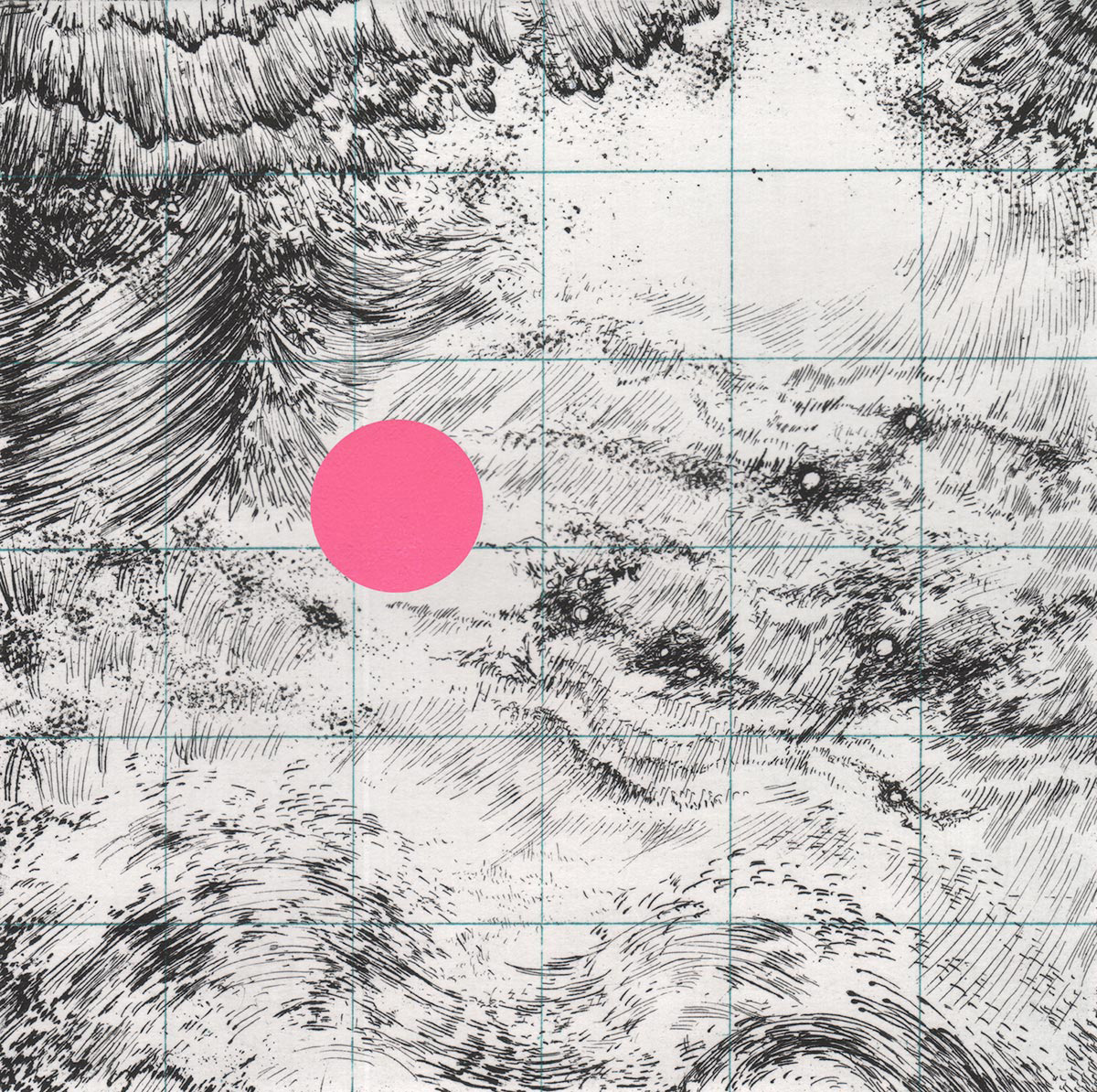 Pictured:  Field Study no. 2   (detail), etching and screenprint, 2015