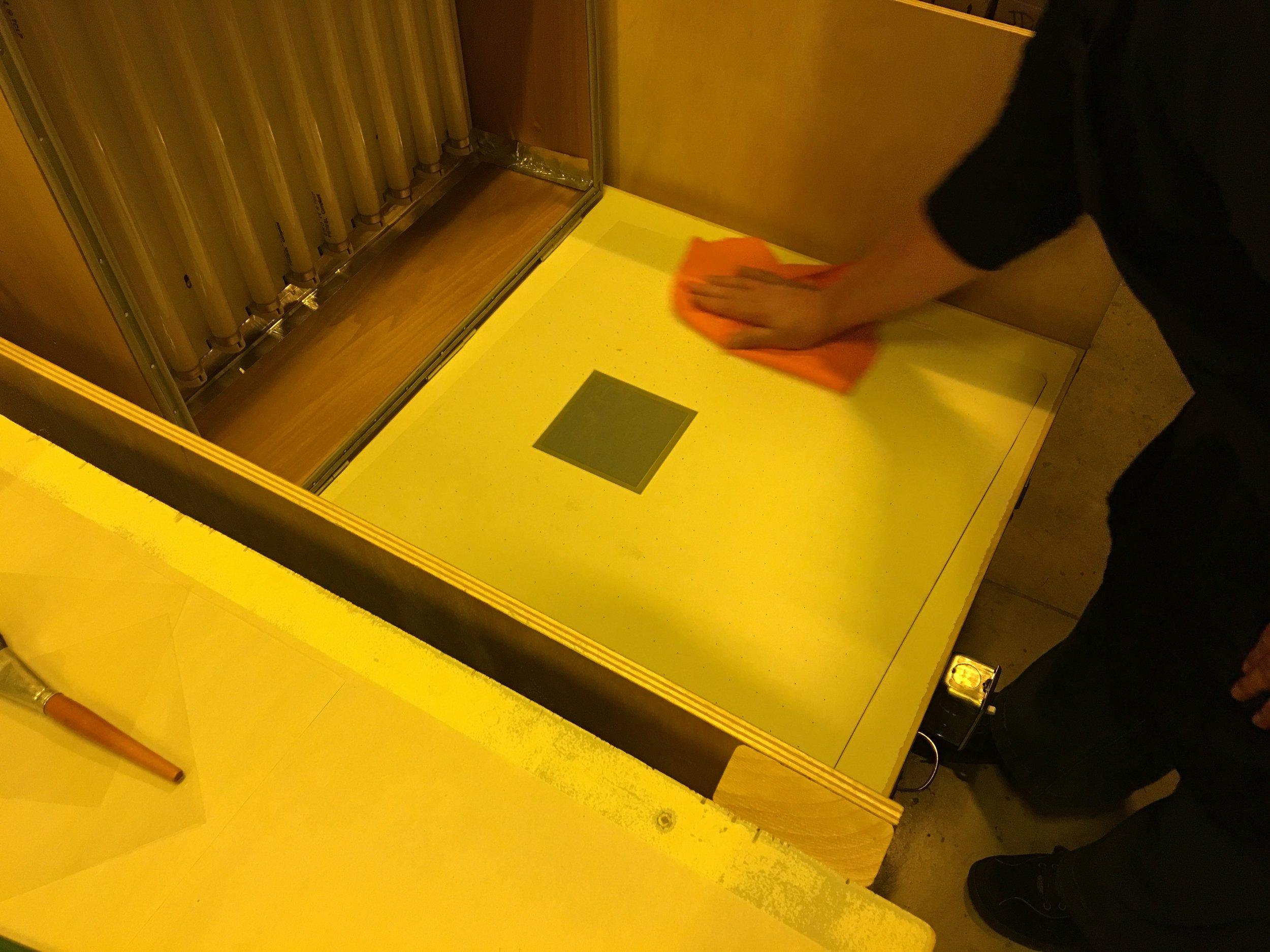 Polymergravure exposure unit