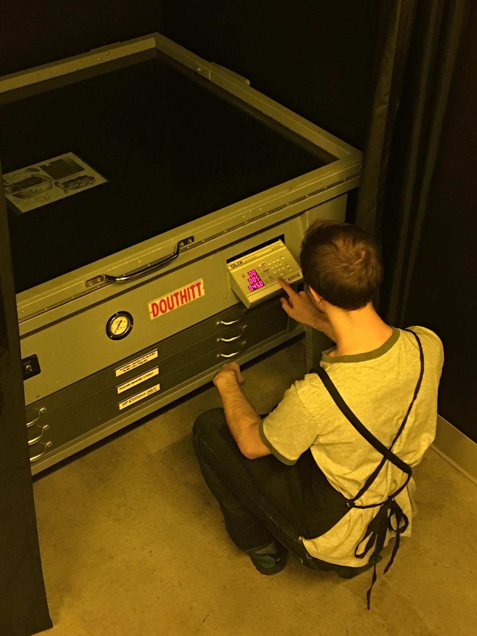 Photolitho exposure unit