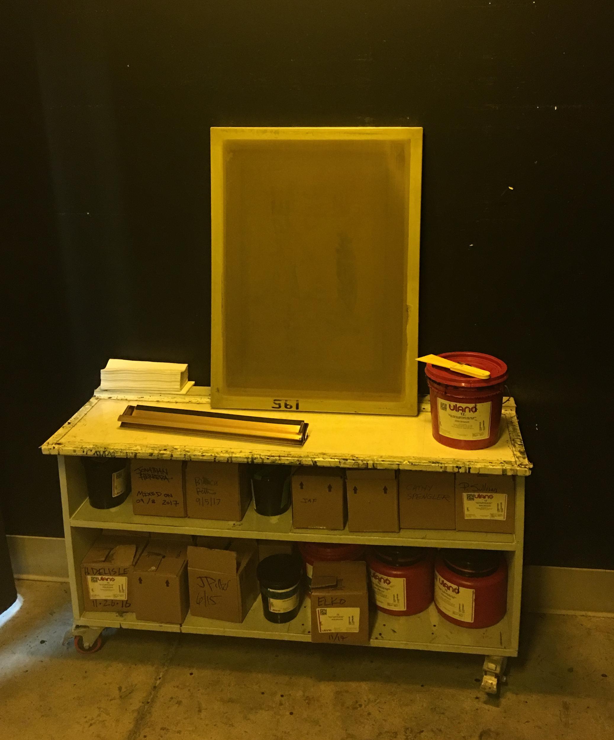 Emulsion coating station