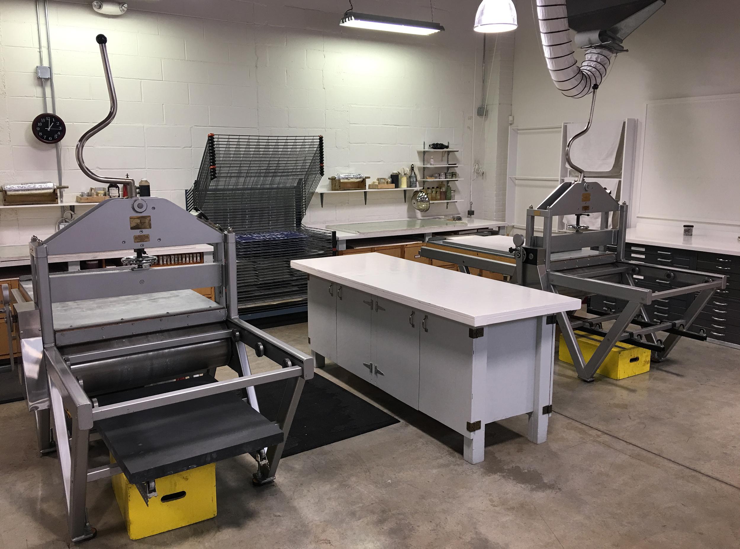 Litho press area