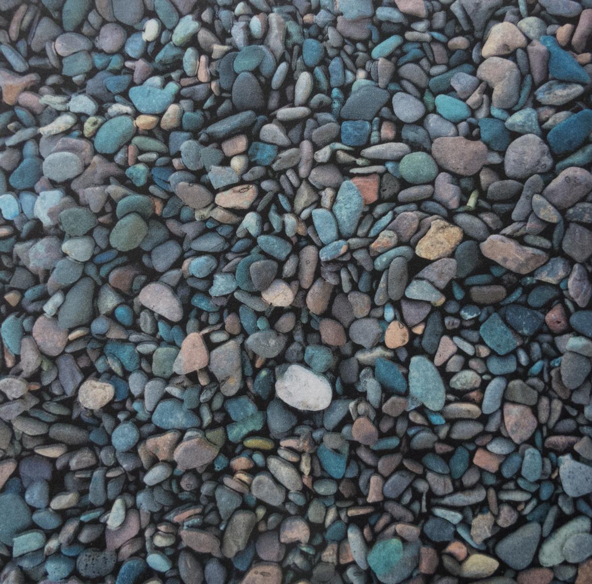Kristin Bickal   Duluth Pebbles   Polymergravure and archival inkjet