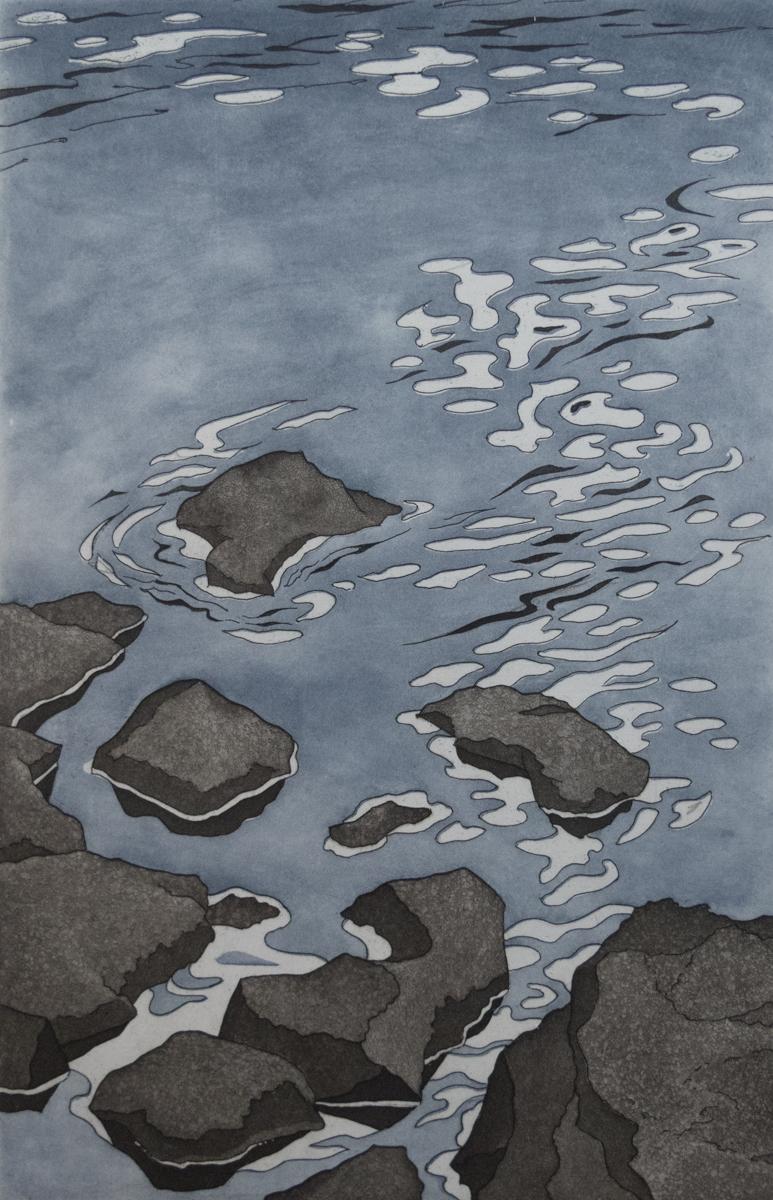 Clara Ueland   Bright Shore   Intaglio