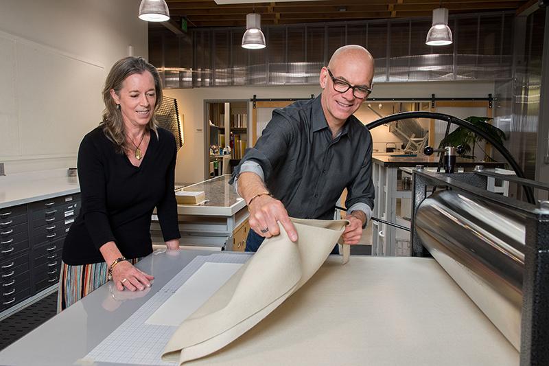 Executive Director Carla McGrath and Master Printer/Artistic Director Cole Rogers Photo credit David Kern