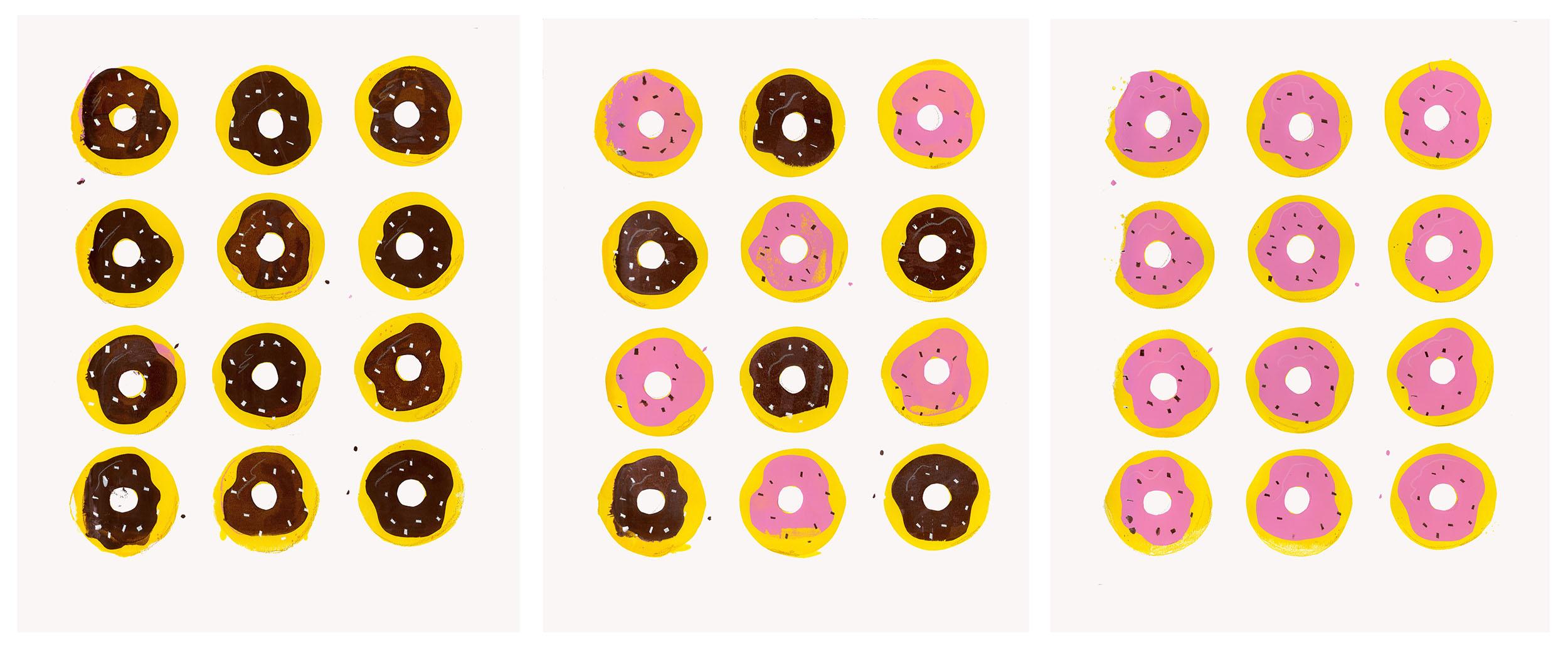 Sarah Evenson,  Donuts , screenprint