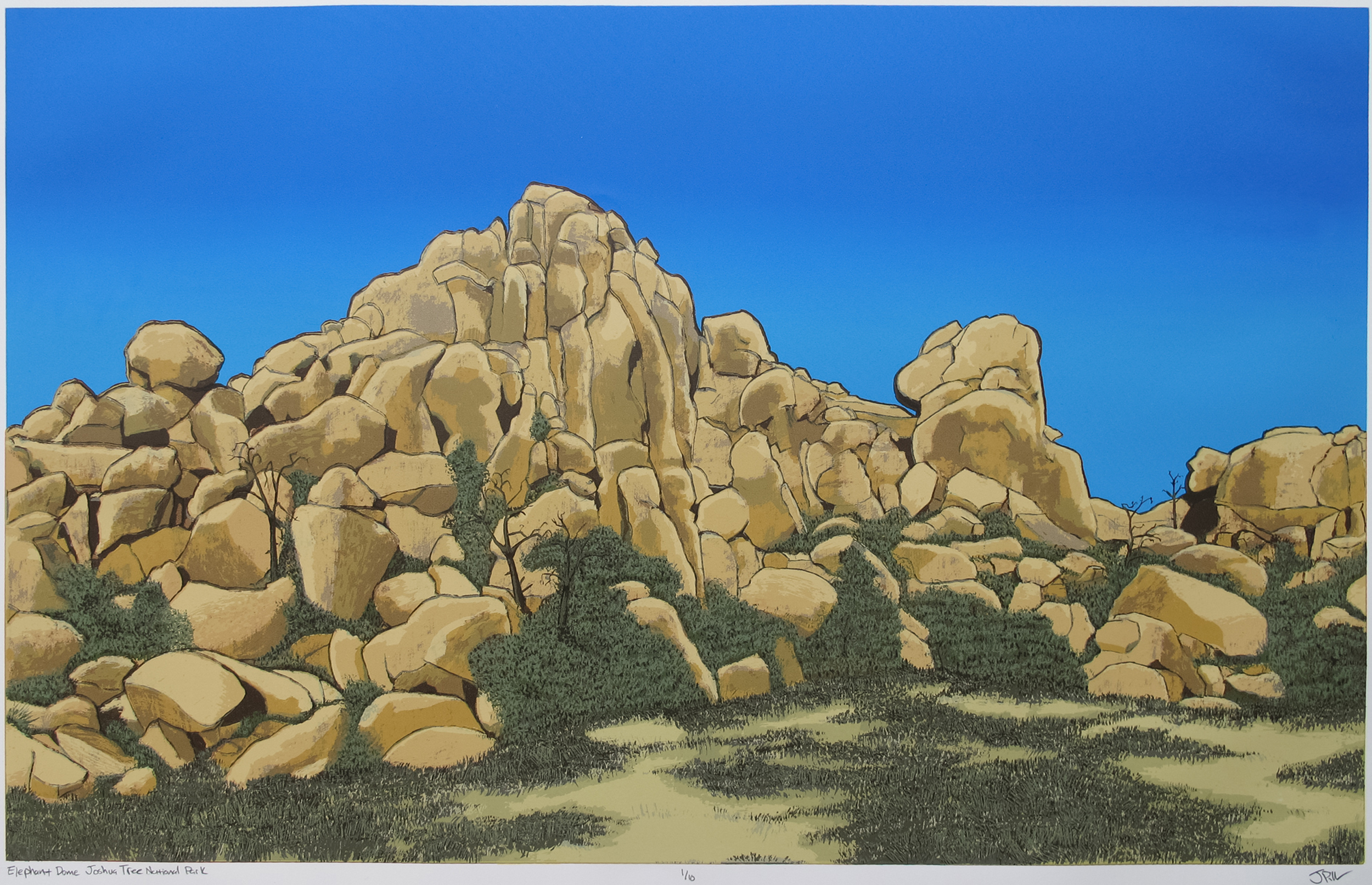 Jeremy Piller, Elephant Dome Joshua Tree National Park, screenprint