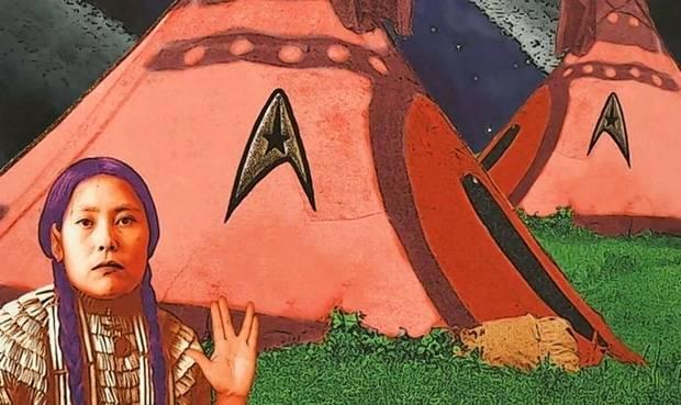"""Live Long and Prosper (Spock Was A Half Breed)"" (detail) by Debra Yepa-Pappan.   Courtesy of Aurora University)"