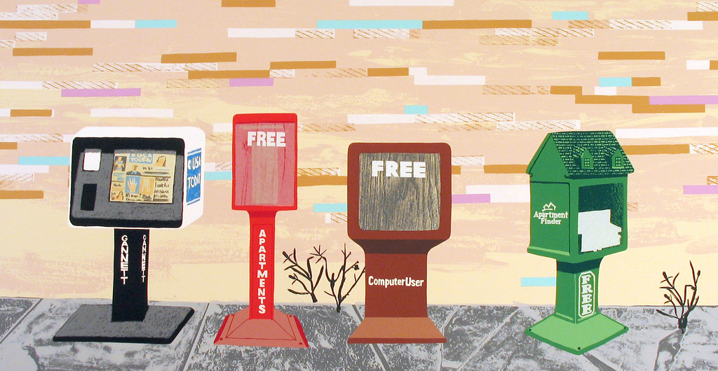 """Free News"" by Carolyn Swiszcz 2005 Edition of 12 