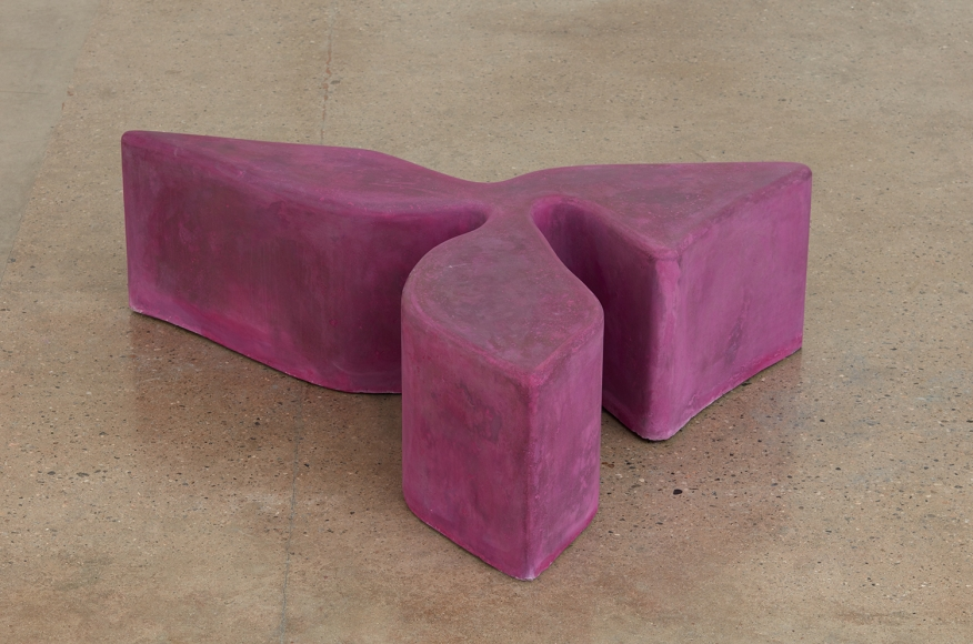 Sarah Crowner Concrete Sculpture, hot pink, 2019 Pigmented concrete  17 x 60.5 x 48.5 inches 43.2 x 153.7 x 123.2 centimeters