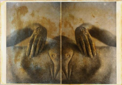 """""""Gesture XVII 2/11"""" by Linda Schwarz 2002"""