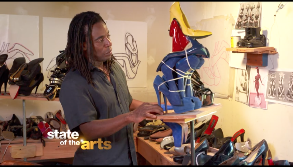 Screen capture from State of the Arts video on Willie Cole