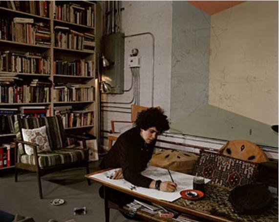 Julie Mehretu in her Studio, 2005, Photo: Peter Rad